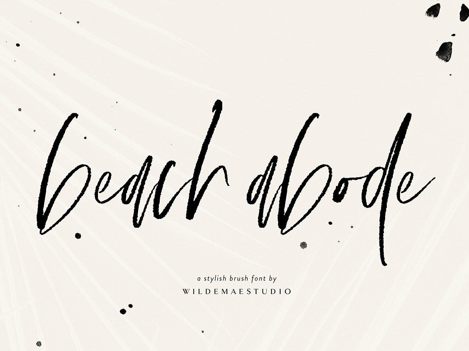 Beach Abode Brush Script Font