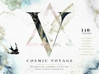 Cosmic Voyage - Alphabet Design Set