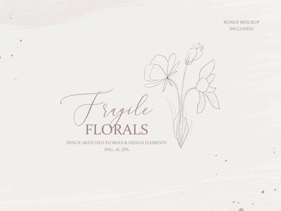 Fine Art Pencil Sketch Florals