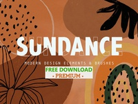 FREE Premium Download - SUNDANCE | Design Elements + Brushes