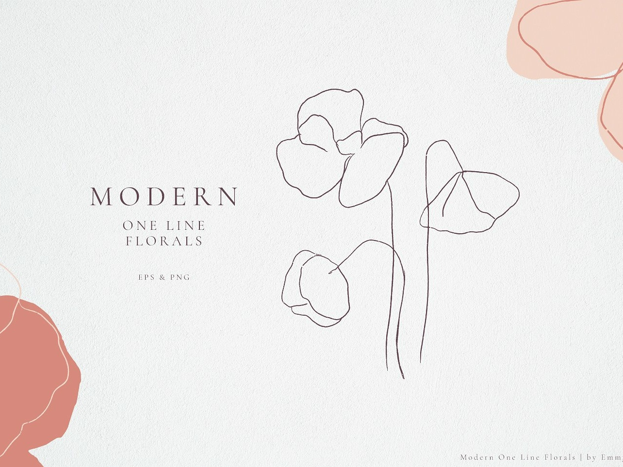 Modern One Line Floral Drawings By Graphics Collection On Dribbble