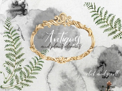 Watercolor antiques and splotches