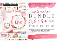 Watercolor Bundle - FREE Updates!