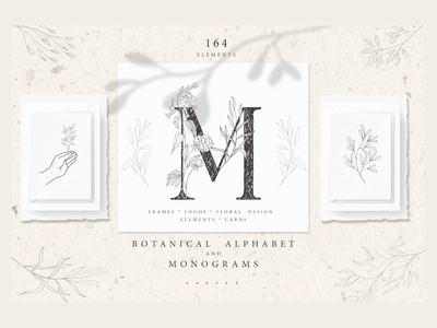 Botanical Alphabet & Monograms.