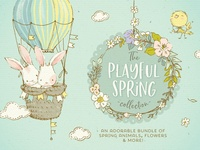 Spring Animals, Flowers & Patterns