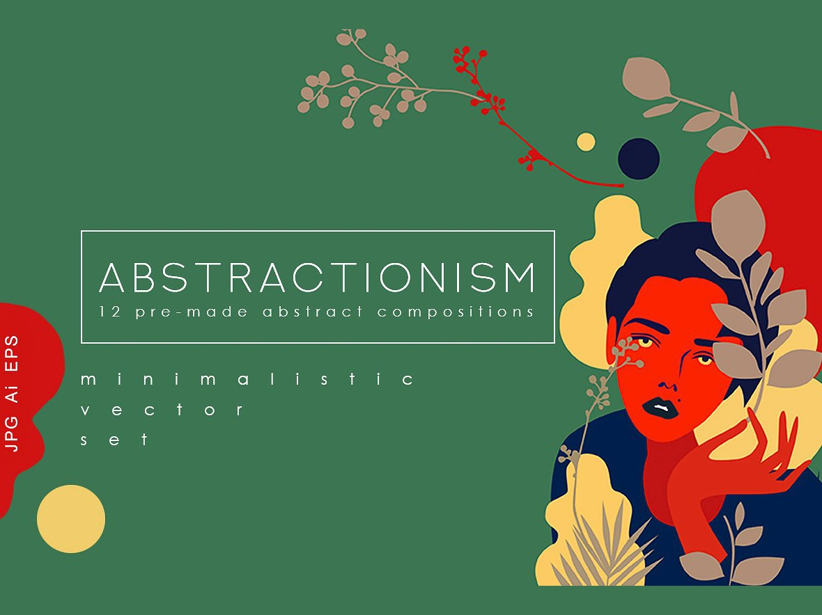 Abstractionism Graphic Set illustration greeting cards abstract composition vector vector set minimalistic minimal elements foliage design elements design abstract arts art abstract compositions compositions premade abstractionism graphic set graphic set abstractionism abstract