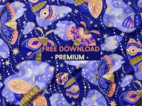Free Premium Download - Beautiful Moths