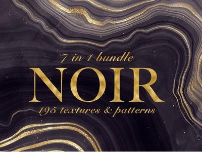 Noir - Patterns & Textures Bundle