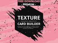 FREE Download - Texture card builder