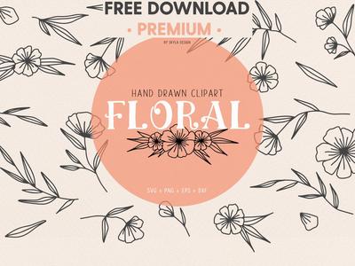 FREE Download - Floral wedding clipart illustration