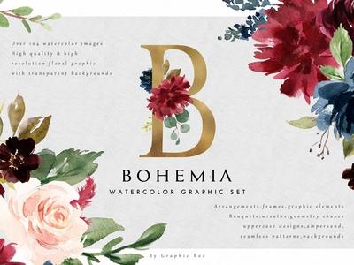 Watercolor Graphic Set-Bohemia