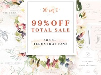 99 % OFF TOTAL SALE
