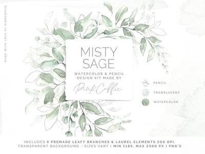Misty Sage Watercolor & Pencil Kit