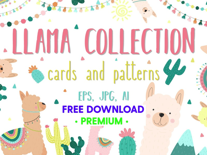 Hand-drawn llama collection background vector design illustration free download psd art design elements pattern design patterns pattern cards card llama clipart llama collection llama hand drawn free downloads freebie free download free