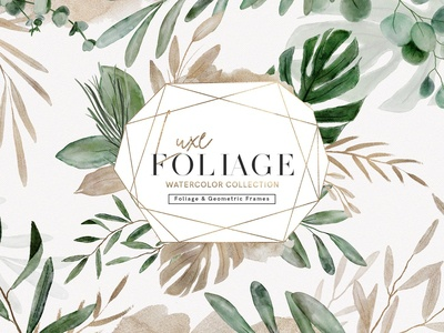 Luxe Foliage Watercolor Collection