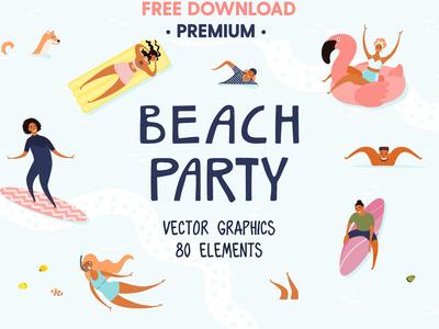 Beach Party, Summer Vector Art