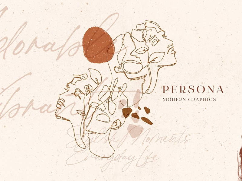 Persona. Soulful Modern Art monoline design design elements pattern character vector line art fine fine art graphics collection graphic design graphic elements graphics modern graphics illustration line art modern art modern soulful