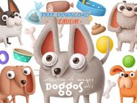 FREEBIE - Doggos collection