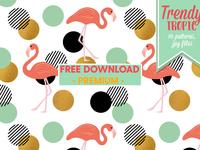 Freebie - Trendy Tropic Patterns