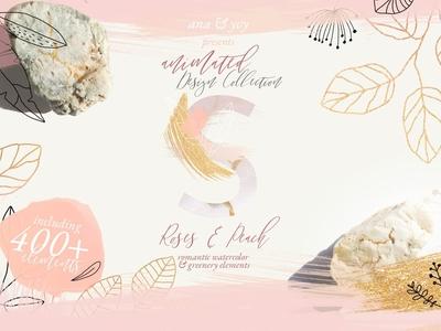 ANIMATED ROMANTIC wedding design set