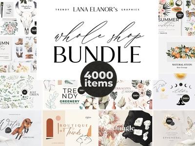 BUNDLE Whole Shop watercolor &design