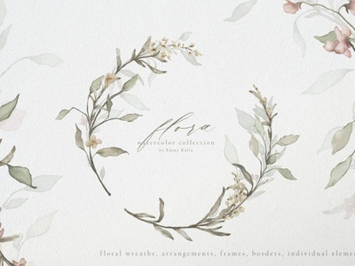 Flora Watercolor Flowers Collection