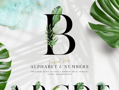 Tropical Alphabet Design Kit