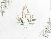 Botanic Gold watercolor alphabet