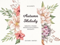 Autumn melody | Watercolour flowers