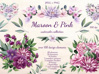 Maroon & Pink