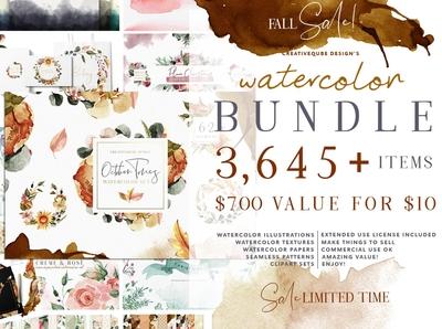 Watercolor Bundle - FREE Updates!