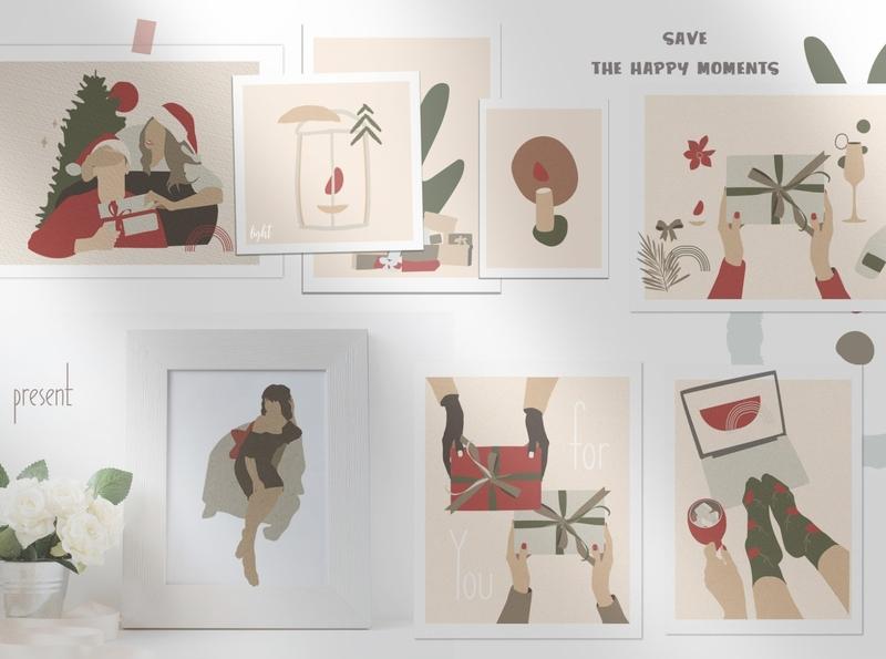 Christmas Secret Modern Graphic Set