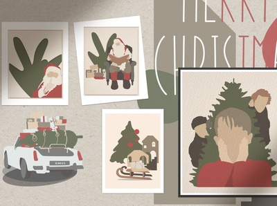Christmas Secret Modern Graphic Set