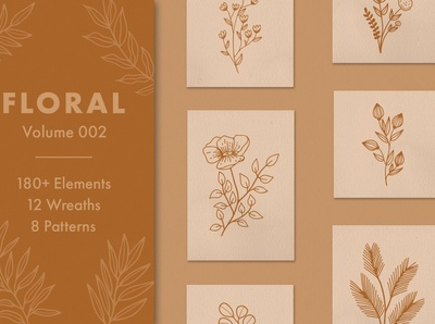 Floral Vector Elements Volume 002