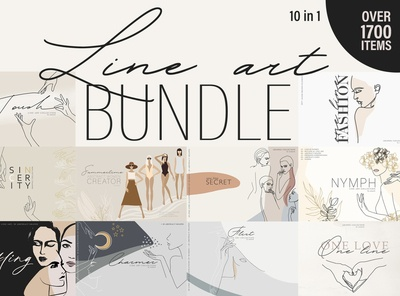 Line Art BUNDLE. 10 in 1