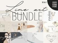 Line Art BUNDLE. 10 in 1