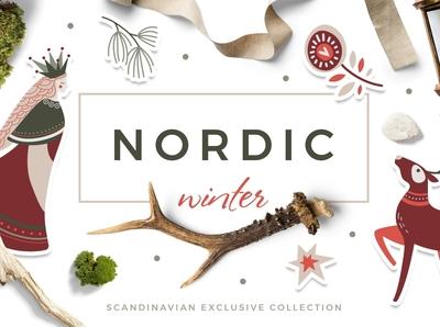 Nordic winter scandi christmas set