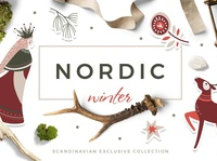 Nordic winter scandi christmas set