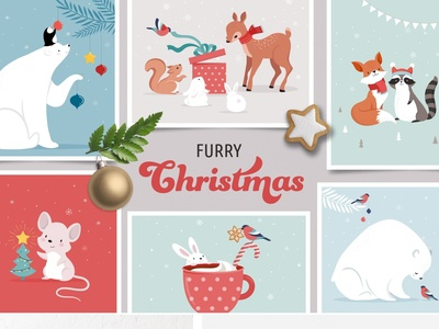 Furry Christmas - winter animals