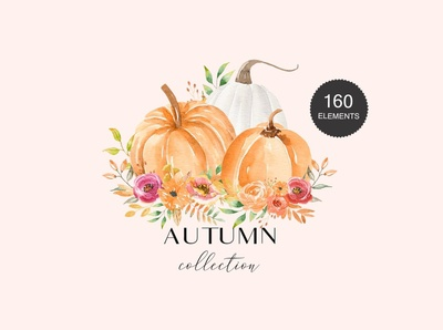 Autumn Watercolor Collection 160+