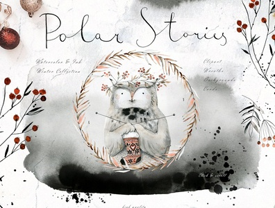 Polar Stories Watercolor & Ink Set
