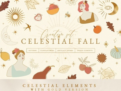 Celestial Fall Graphic Set