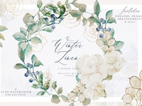 Winter Wedding Watercolor Bundle
