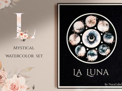 LA LUNA. mystical watercolor set