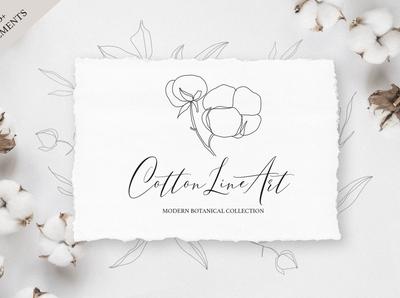 Cotton Line Art