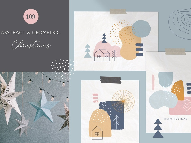 Abstract & Geometric Christmas clean illustration abstract art instagram template story seamless pattern pattern texture shapes shape abstract shape graphic design graphics graphic design geometric christmas christmas geometric abstract