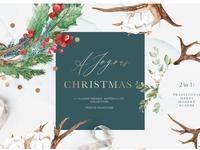 Christmas & Holiday Watercolor Set