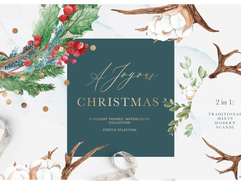 Winter Holidays Watercolor Clipart | Pre-Designed Photoshop Graphics ~  Creative Market