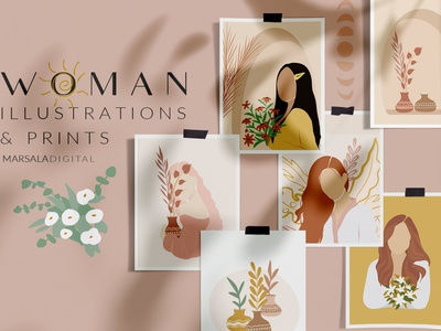 Women Prints & Illustrations Vol2 poster print posters poster design poster graphic elements graphic design graphic design elements design women illustrations women illustration women prints illustrations illustration print design printing print prints women print women
