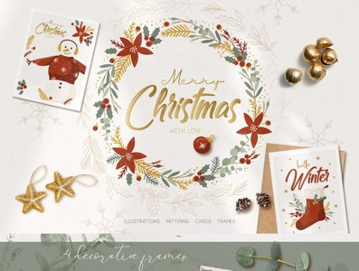 Christmas Winter illustrations,cards